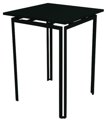 Arredamento - Tavoli alti - Tavolo bar alto Costa di Fermob - Liquerizia - Alluminio