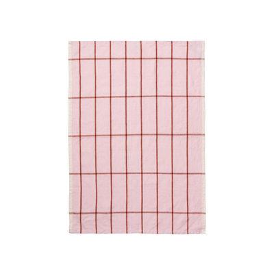 Torchon Hale / 50 x 70 cm - Ferm Living rose en tissu