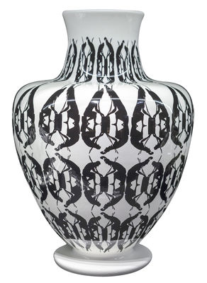 Decoration - Vases - Greeky Vase - Ø 30 x H 43 cm / Hand made by Driade - Black & white - Painted ceramic