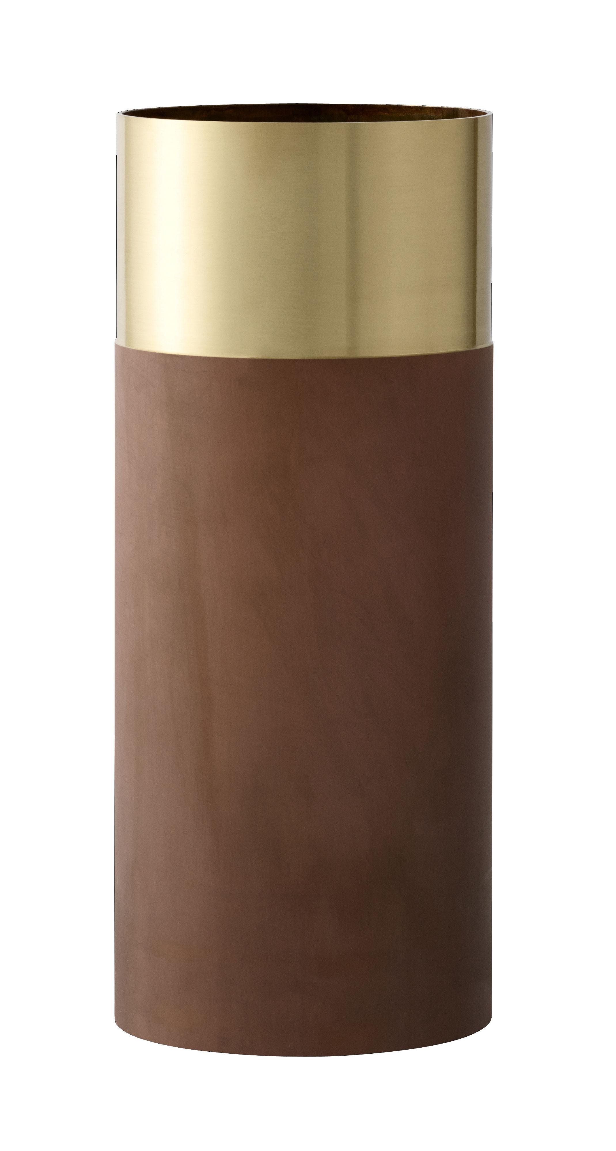 Déco - Vases - Vase True Colour LP2 / Laiton - Ø 10 x  H 24 cm - &tradition - Laiton & terracotta - Laiton