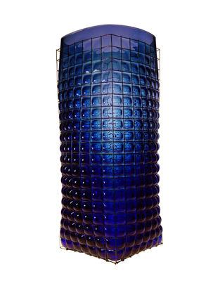 Interni - Vasi - Vaso Grid Giant - / H 40 cm - Fatto a mano di Vanessa Mitrani - Blu profondo trasparente - , Metallo