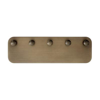 Arredamento - Appendiabiti  - Appendiabiti SC47 - / Acciaio - L 54 x H 17 cm di &tradition - Ottone invecchiato - Acciaio galvanizzato