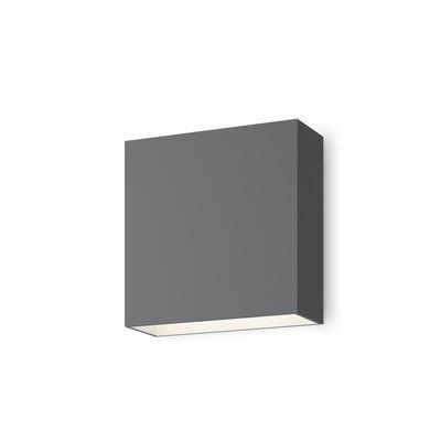 Illuminazione - Lampade da parete - Applique Structural LED - / 16 x 16 cm di Vibia - Grigio - Alluminio laccato