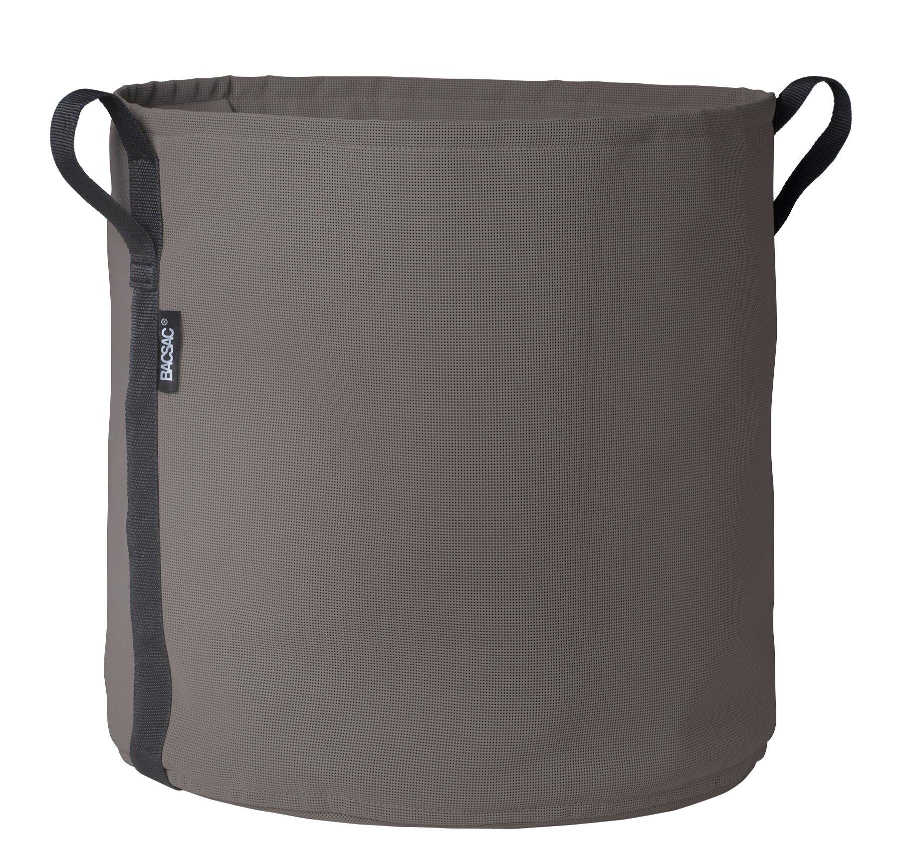 Outdoor - Töpfe und Pflanzen - Batyline® Blumentopf / Outdoor-Version - 50 l - Bacsac - Taupe - Toile Batyline®