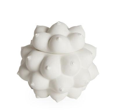 Déco - Boîtes déco - Boîte Georgia / Porcelaine - Seins en relief - Jonathan Adler - Blanc - Porcelaine