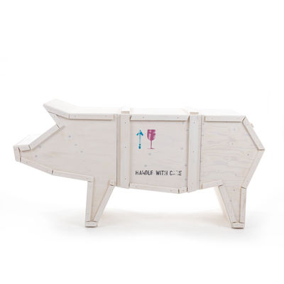 Buffet Sending animals Cochon 2.0 / L 150 x H 76 cm - Seletti blanc en bois