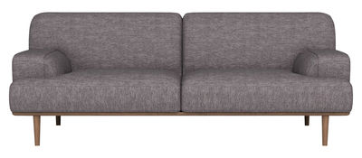 Canapé droit Madison Tissu / 2½ places - L 204 cm - Bolia gris,chêne en tissu