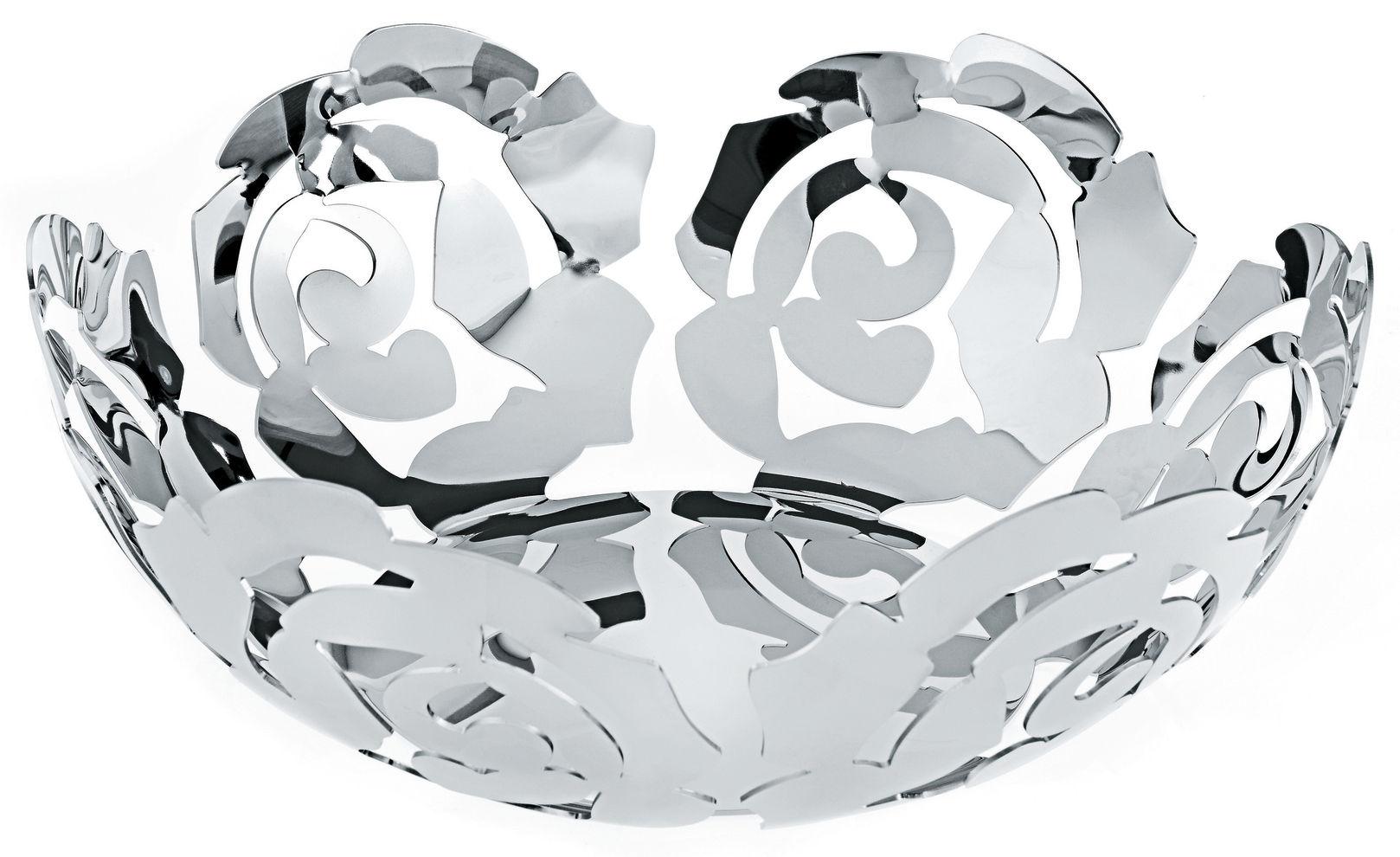Accessori moda - Accessori bagno - Cesto La Rosa di Alessi - Ø 29 cm - Acciaio brillante - Acciaio inossidabile
