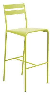 Mobilier - Tabourets de bar - Chaise de bar Facto / H 75 cm - métal - Fermob - Verveine - Acier laqué