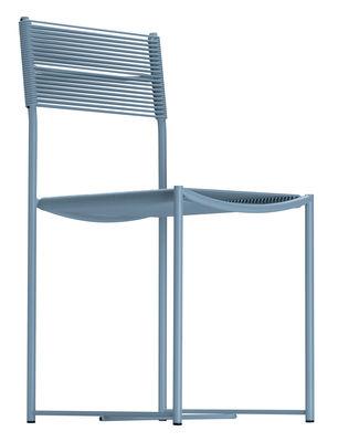 Chaise Spaghetti / Design de 1979 - Exposée au MoMA - Alias bleu en métal