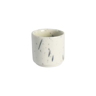 Arts de la table - Coquetiers - Coquetier Studio / Grès fait main - Jars Céramistes - Buvard (blanc tacheté bleu) - Grès émaillé