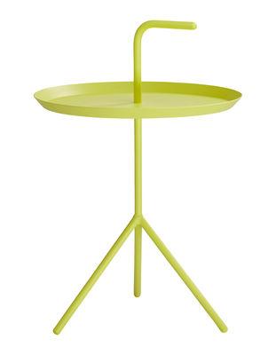 Möbel - Couchtische - Don't leave Me Couchtisch / Ø 38 x H 44 cm - Hay - Gelb - lackierter Stahl