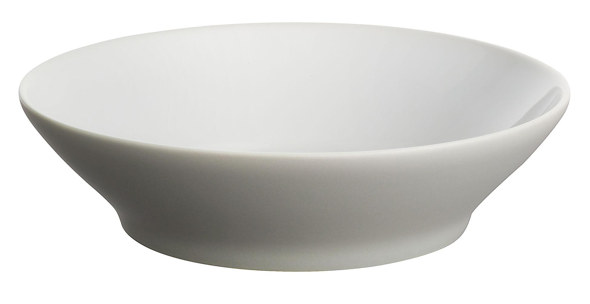 Tischkultur - Teller - Tonale Dessertteller - Alessi - Hellgrau / Innen weiß - Keramik im Steinzeugton