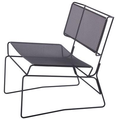 fauteuil bas fil noir aa new design made in design. Black Bedroom Furniture Sets. Home Design Ideas