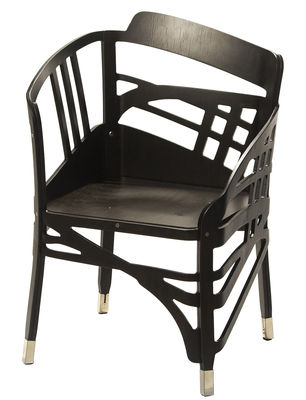 Mobilier - Chaises, fauteuils de salle à manger - Fauteuil The Hidden Chairs Wagner / Bois - Illusion d'optique - Ibride - Noir - Multiplis de hêtre