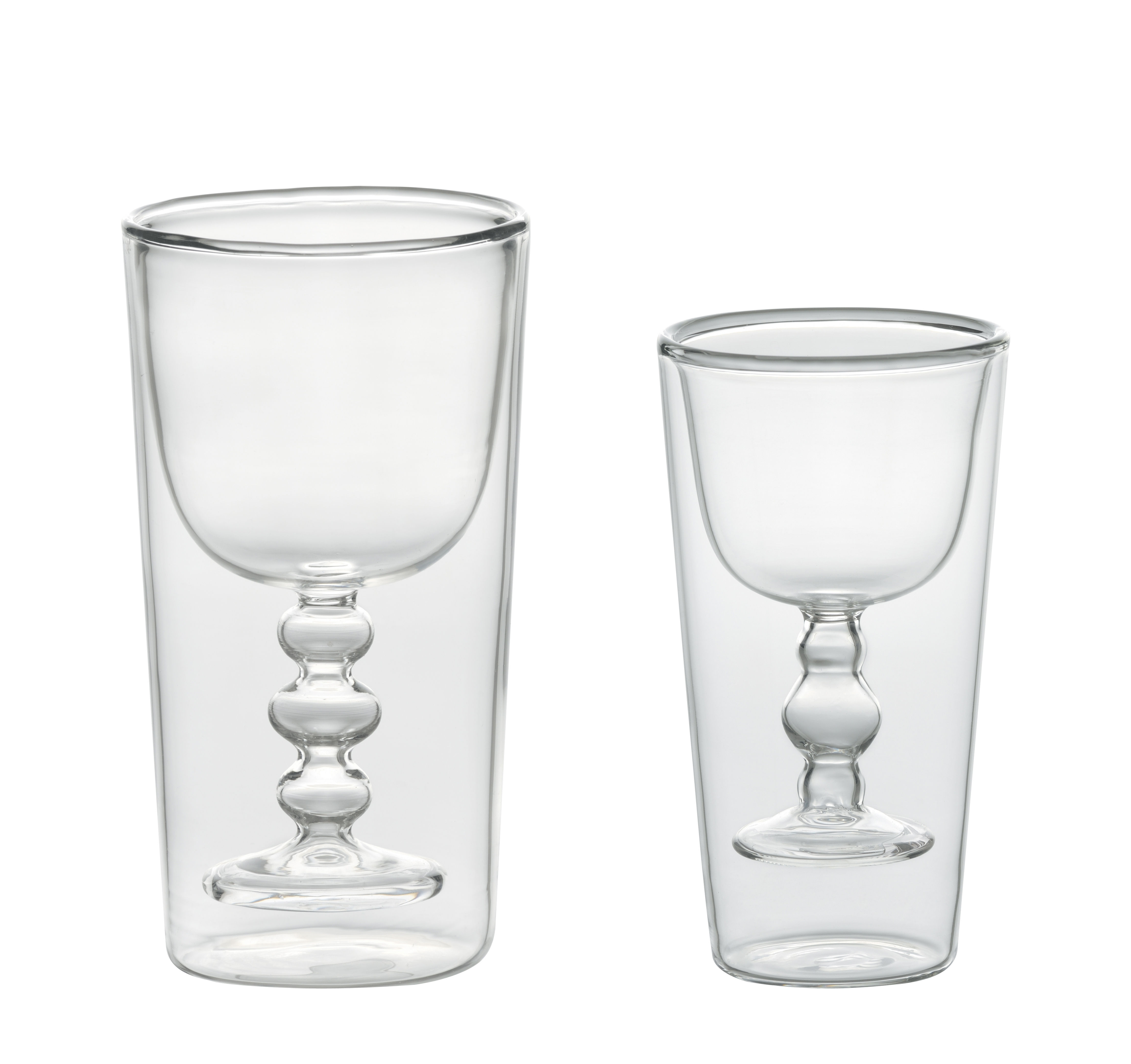 Tableware - Wine Glasses & Glassware - Cocktail Glass - / Set of 2 glasses water + wine by Bitossi Home - Transparent - Blown glass