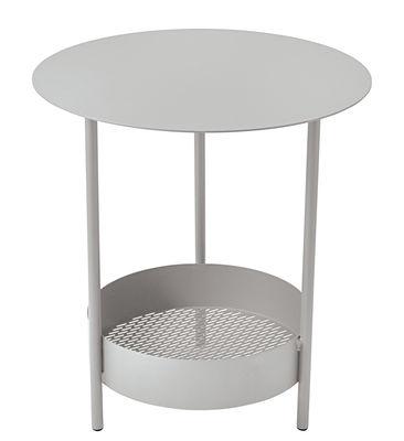 Guéridon Salsa / Ø 50 x H 50 cm - Fermob gris métal en métal