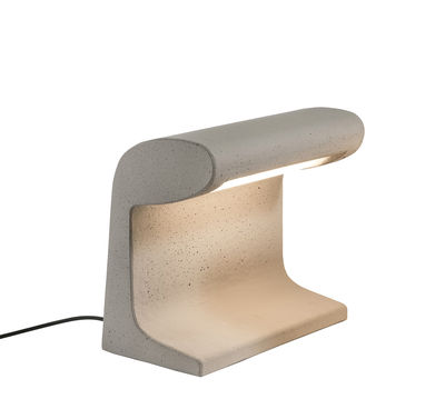 Lighting - Pendant Lighting - Béton Petite Lamp - LED / Le Corbusier 1952 - H 31 cm by Nemo - H 31 cm / Concrete - Raw concrete