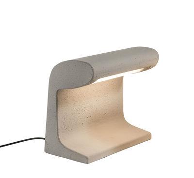 Lampe Béton Petite / LED OUTDOOR - Le Corbusier 1952 / H 31 cm - Nemo gris en pierre