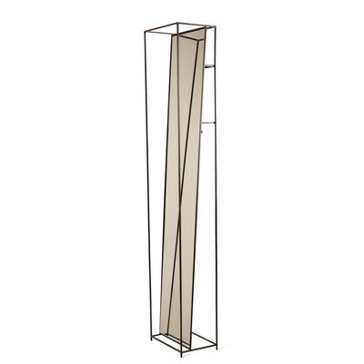 Déco - Miroirs - Miroir sur pied Selfie / L 35 x H 180 cm - Avec patères & étagères - Pols Potten - Noir - Métal laqué, Verre