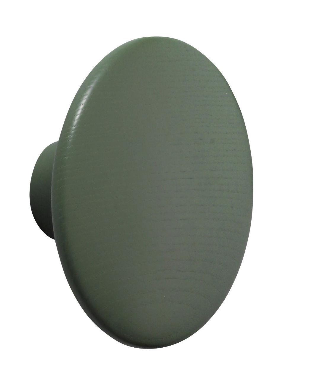 Mobilier - Portemanteaux, patères & portants - Patère The Dots / Medium - Ø 13 cm - Muuto - Vert Dusty - Frêne teinté