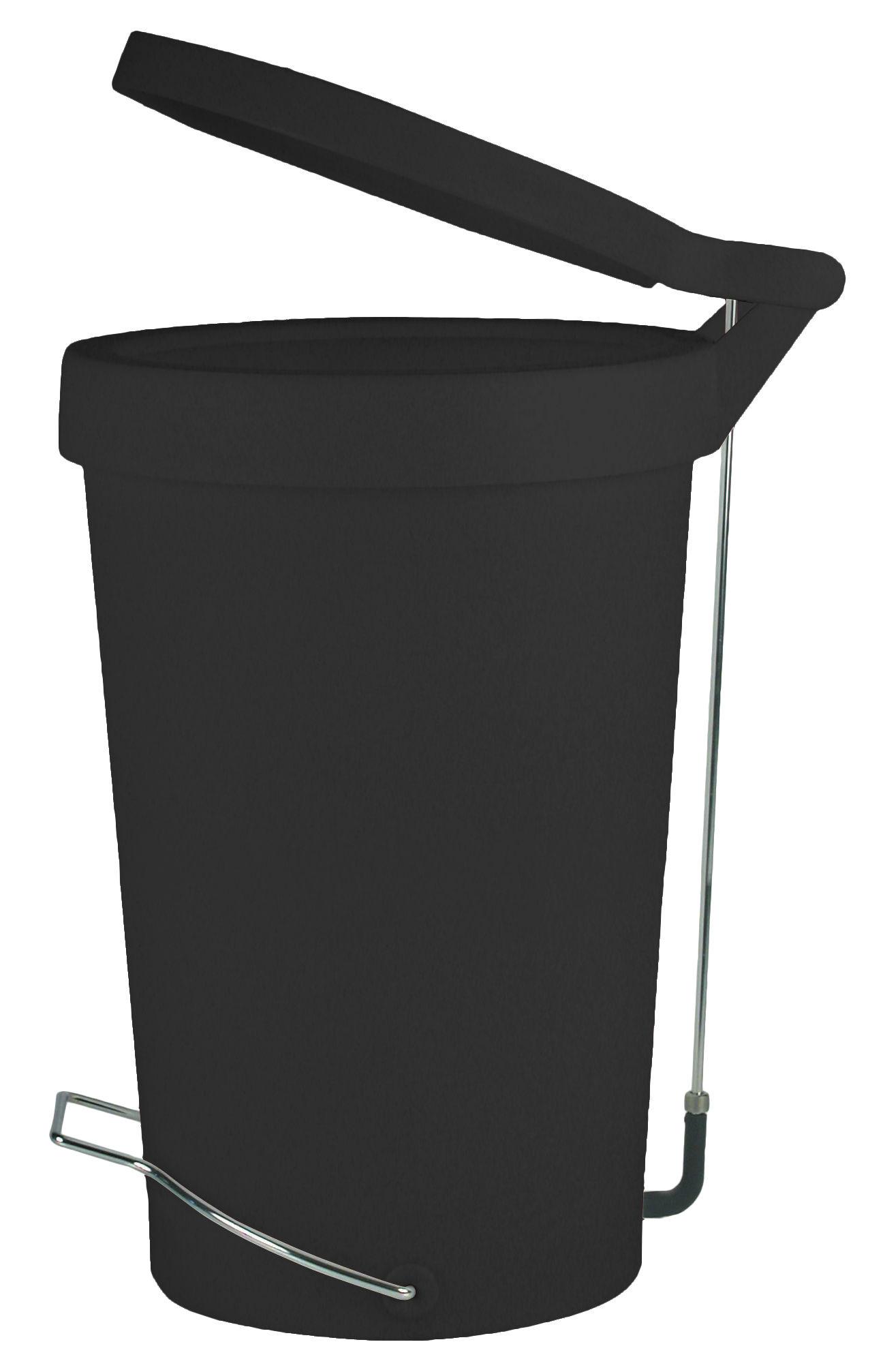 Cucina - Cestini - Pattumiera a pedale Tip - 30 litri - A pedale di Authentics - Nero - Gomma, metallo laccato, Polipropilene