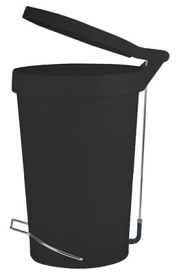 Kitchenware - Bins - Tip Pedal bin - 30 Litres - With pedal by Authentics - Black - Lacquered metal, Polypropylene, Rubber