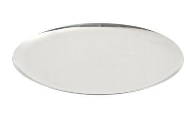 Tavola - Vassoi  - Piano/vassoio Tray XL - / Ø 35 cm - Acciaio di Hay - Argento - Acciaio