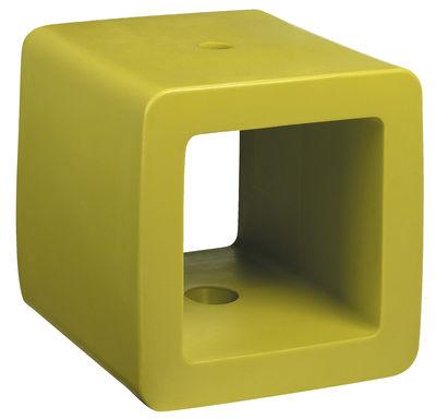 Pied de parasol Cube - Symo vert en matière plastique