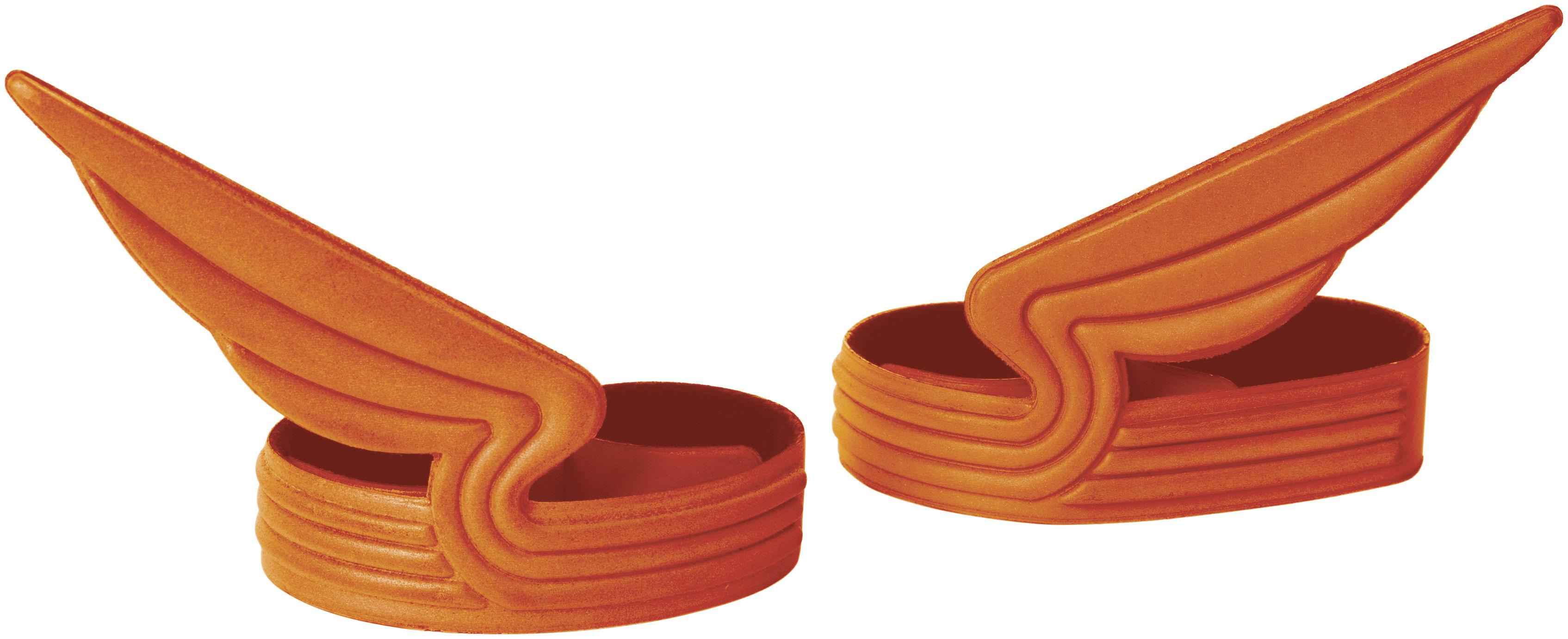 Accessoires - Pratique et malin - Pince à vélo Windrider / Pour pantalon - Set de 2 - ENOstudio - Orange - PVC réfléchissant