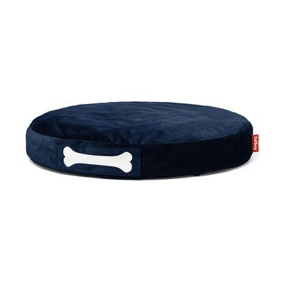 Pouf Doggielounge velvet / Ø 100 cm - Velours - Fatboy Ø 100 x H 15 cm bleu foncé en tissu