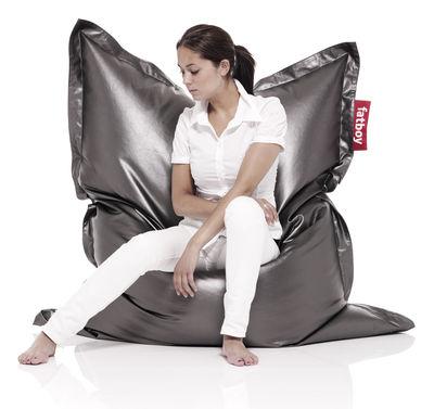 Furniture - Poufs & Floor Cushions - Mètahlowski - Titano Pouf - Titano by Fatboy - Titanium - Fabric
