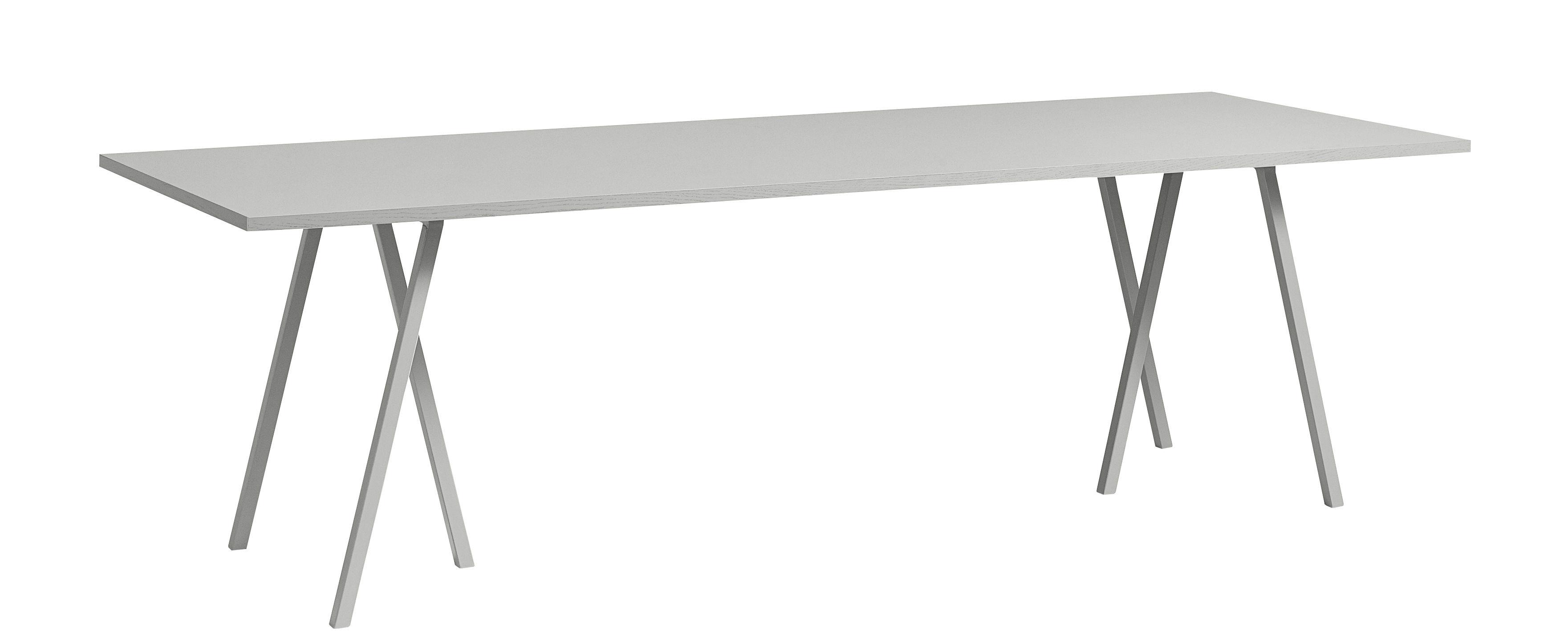Möbel - Tische - Loop rechteckiger Tisch / L 160 cm - Hay - Grau - lackierter Stahl