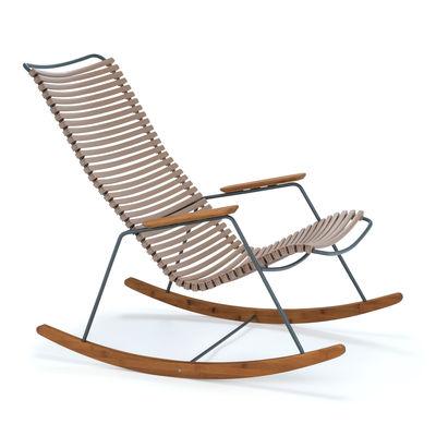 Rocking chair Click / Plastique & bambou - Houe sable en matière plastique