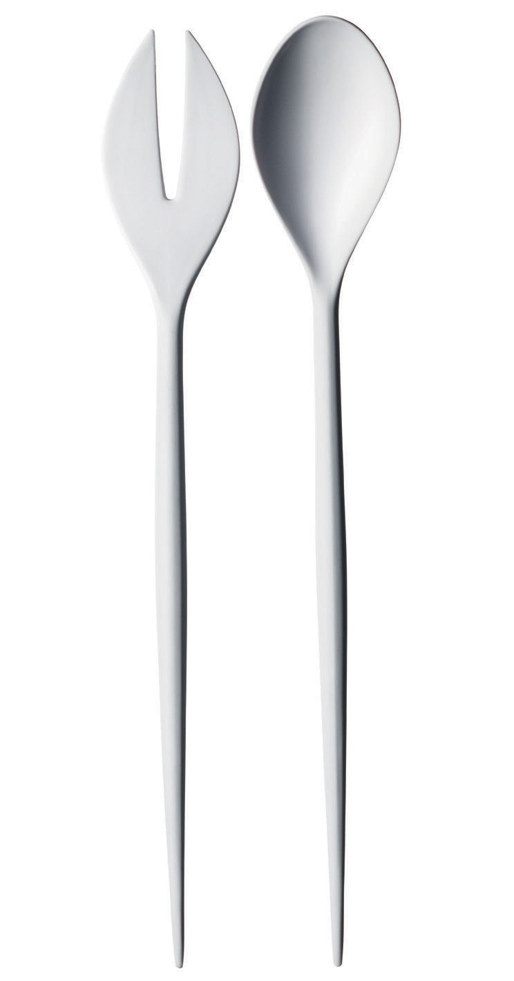 Tableware - Serving Cutlery - Krenit Salad servers by Normann Copenhagen - White - Melamine