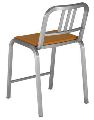 Arredamento - Sgabelli da bar  - Sedia da bar Nine-O - h 60 cm di Emeco - Alluminio opaco / Arancio - Alluminio riciclato, Poliuretano