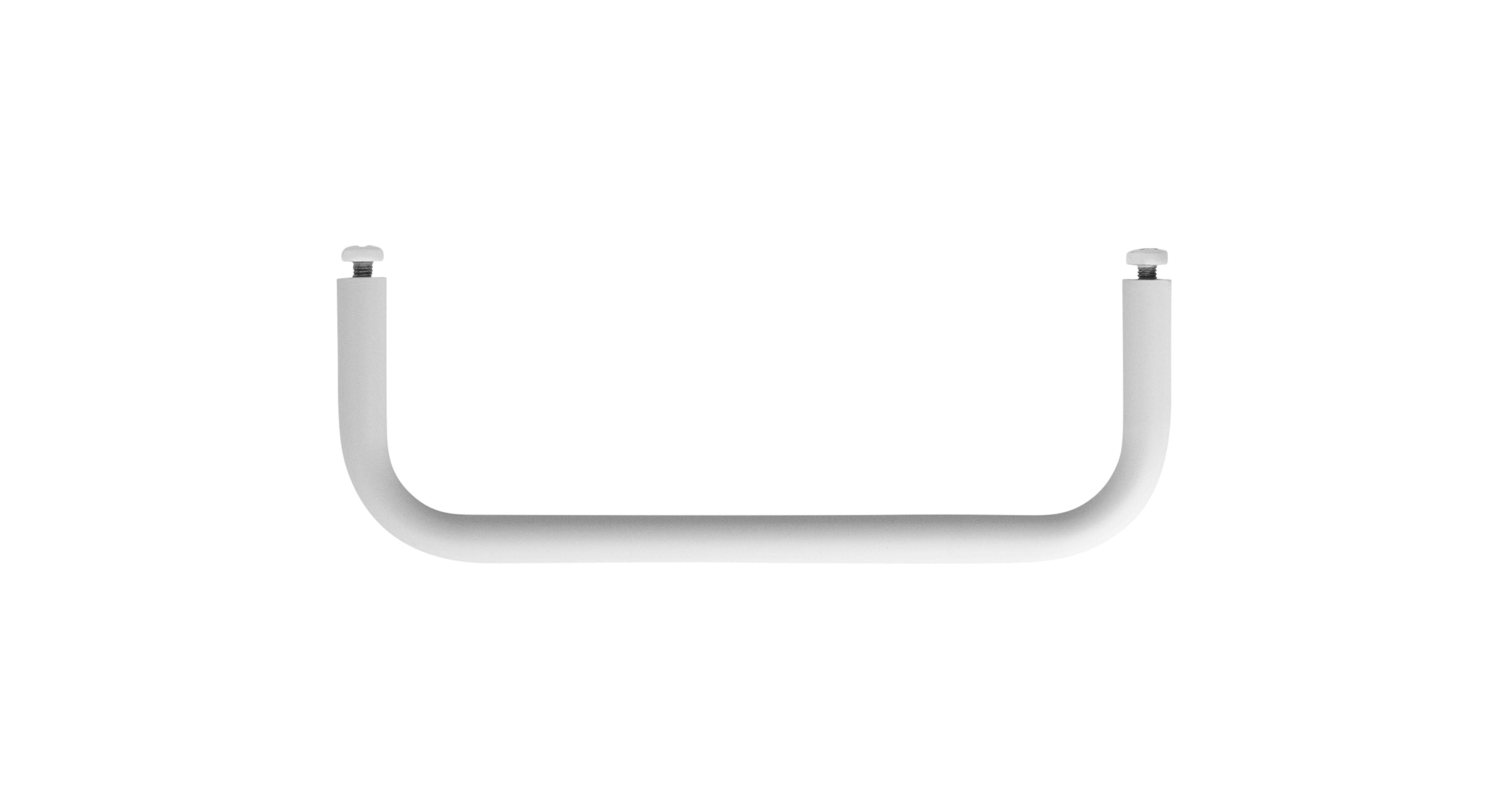 Arredamento - Scaffali e librerie - Sospensione bar Small - / L 30 cm - Per mensole in metallo traforato di String Furniture - L 30 cm / Bianco - metallo laccato