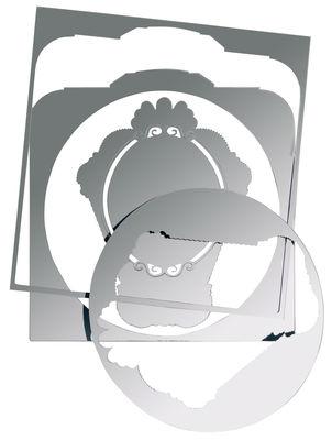 Arredamento - Specchi - Specchio autocollante 5 mirrors - Autoadesivo di Domestic -  - Materiale plastico