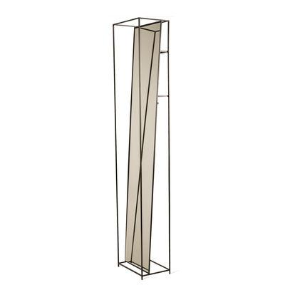 Interni - Specchi - Specchio da terra Selfie - / L 35 x H 180 cm - Con ganci e ripiani di Pols Potten - Nero - metallo laccato, Vetro