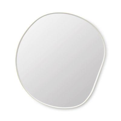 Interni - Specchi - Specchio murale Pond XL - / 87 x 94 cm di Ferm Living - ottone - MDF tinto, Vetro, Zinc plaqué laiton