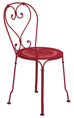 Furniture - Chairs - 1900 Stacking chair - Metal by Fermob - Chili - Steel