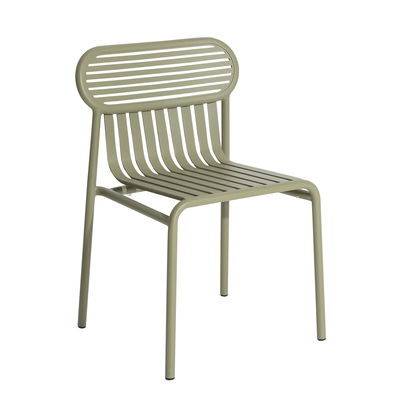 Furniture - Chairs - Week-End Stacking chair - / Aluminium by Petite Friture - Jade green - Powder coated epoxy aluminium