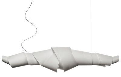 Luminaire - Suspensions - Suspension Jamaica / L 180 cm - Foscarini - Blanc - Papier recouvert de polymère