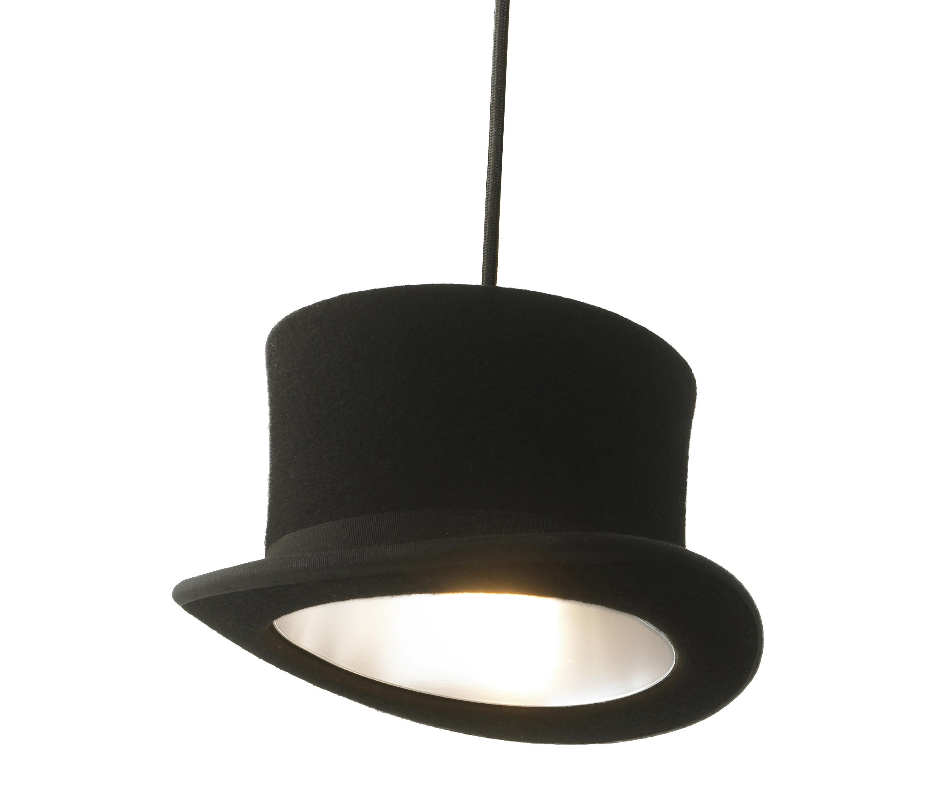 Luminaire - Suspensions - Suspension Wooster / Chapeau haut-de-forme - Innermost - Haut-de-forme - Noir / int. argent - Aluminium anodisé, Feutre de laine