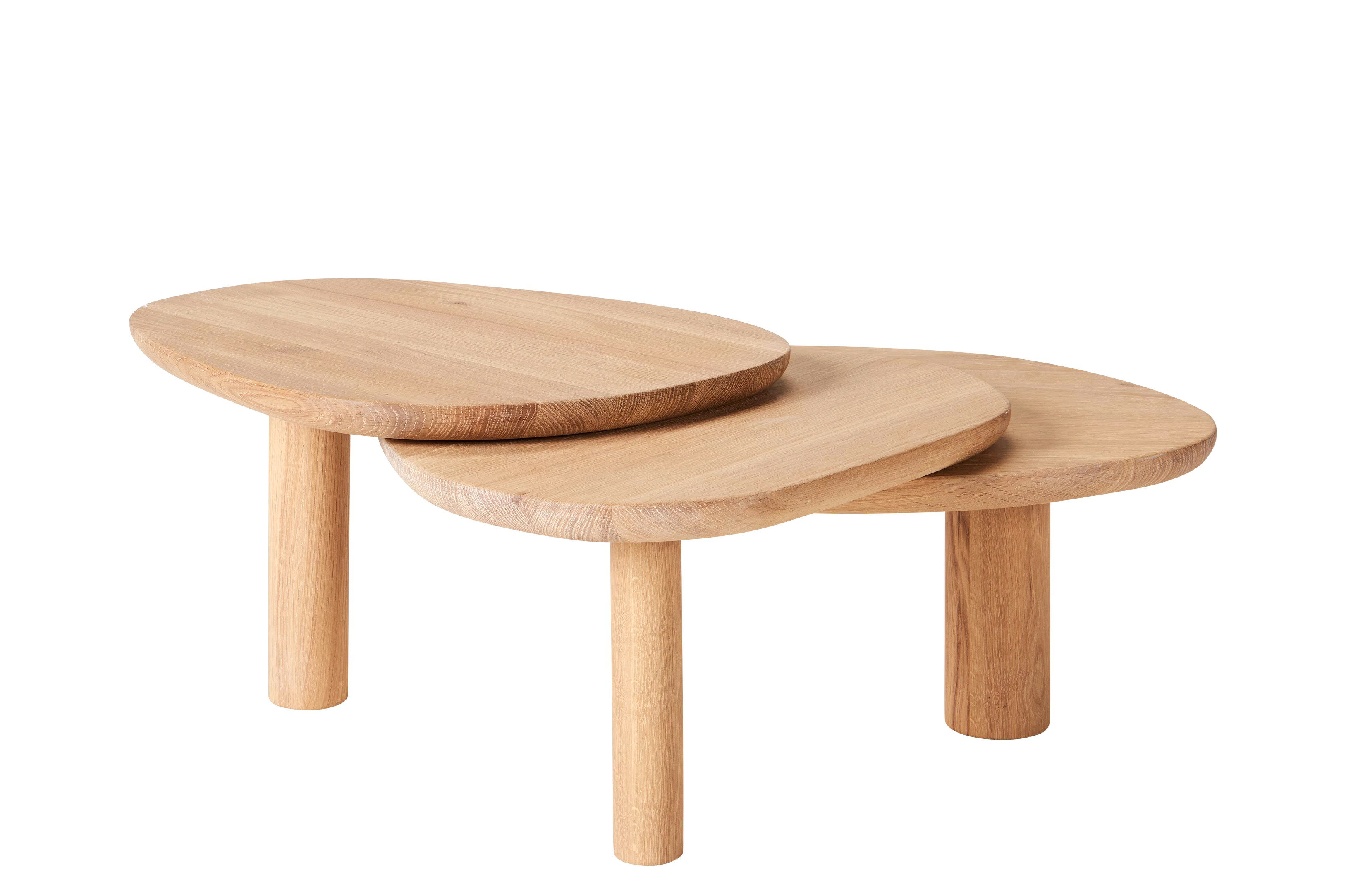 Mobilier - Tables basses - Table basse Latch / 100 x 80 cm - Chêne - Bolia - Chêne naturel - Chêne massif huilé