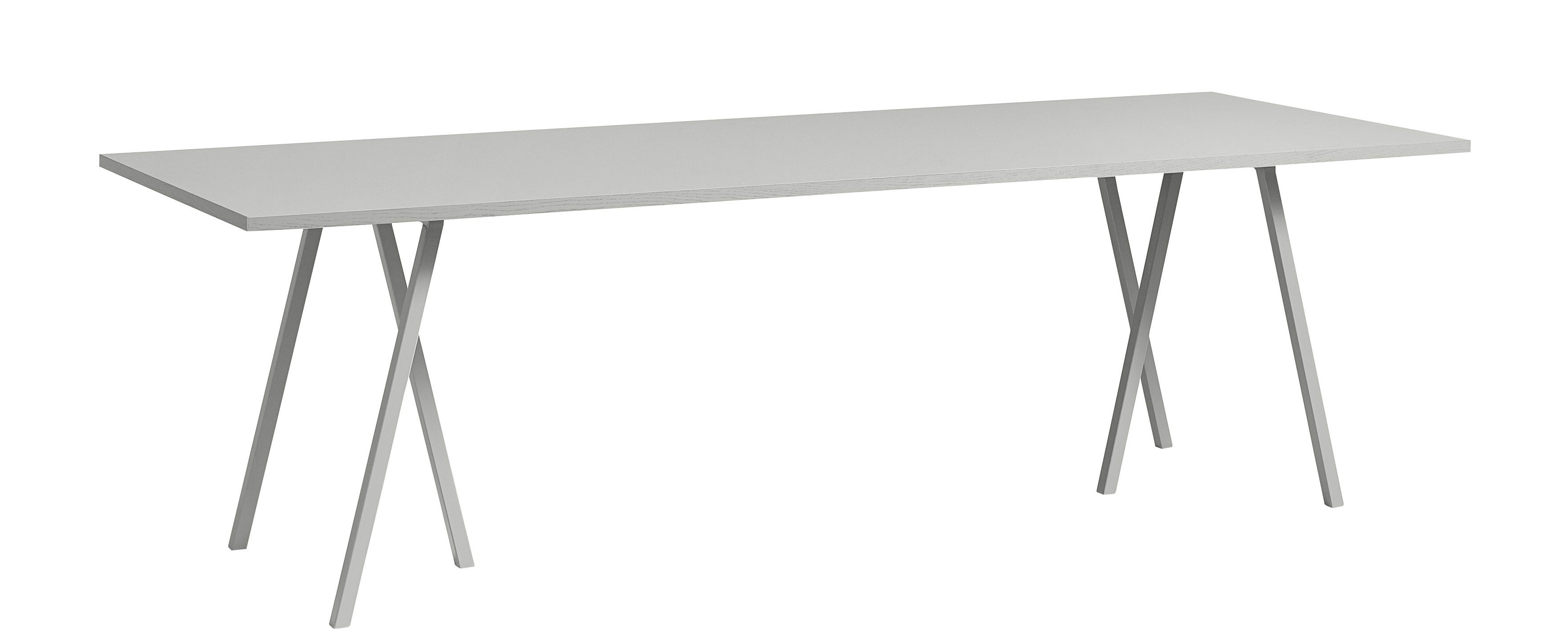 Mobilier - Tables - Table Loop / L 160 cm - Hay - Gris - Acier laqué