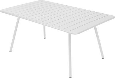 Table Luxembourg / 6 à 8 personnes - 165 x 100 cm - Fermob blanc en métal