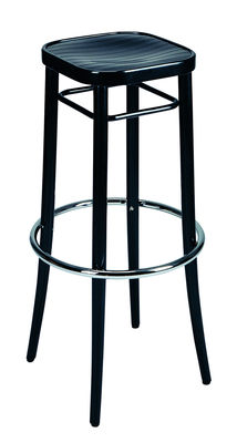 Tabouret haut Vienna 144 / H 85 cm - Réédition 1908 - Wiener GTV Design noir en bois