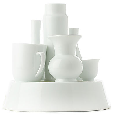 Dekoration - Vasen - Hong Kong Vase - Pols Potten - Weiß - Lackiertes Porzellan
