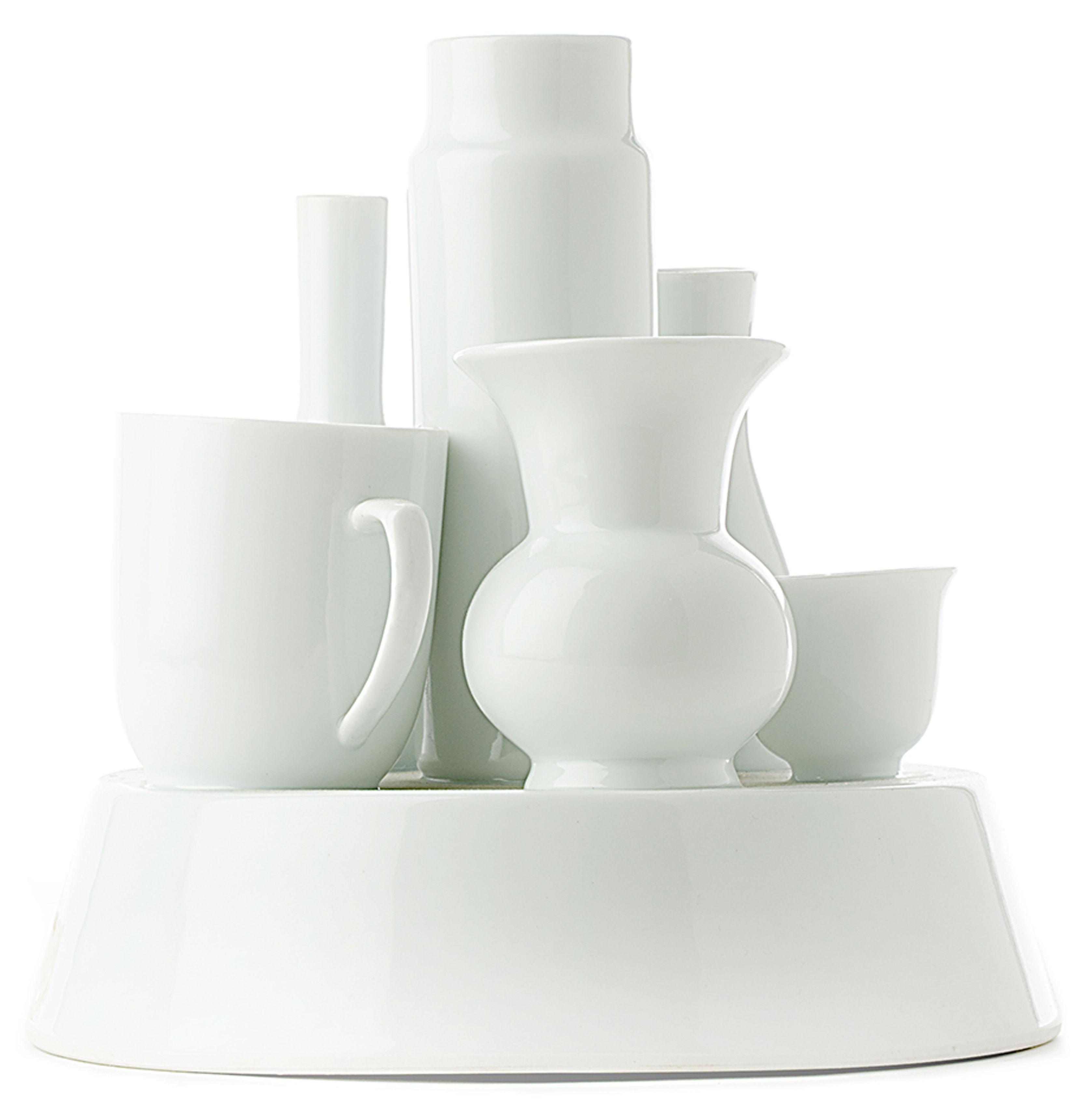 Interni - Vasi - Vaso Hong Kong di Pols Potten - Bianco - Porcellana verniciata